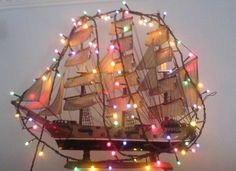 Decorative traditional Christmas boat