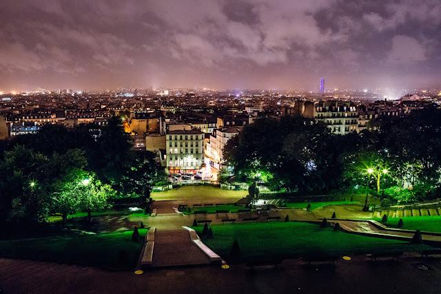 Widok ze wzgórza Montmartre