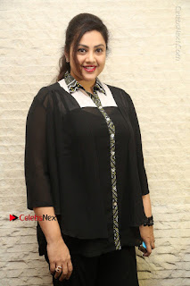 Tamil Actress Meena Latest Stills in Black Dress at TSR TV9 Awards Press Meet  0031.JPG