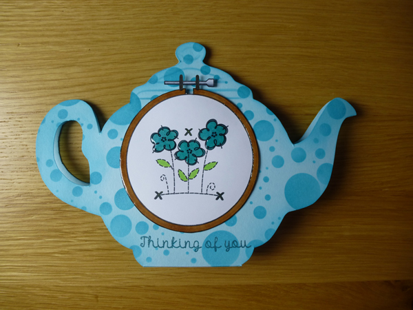Teapot Card using Woodware products