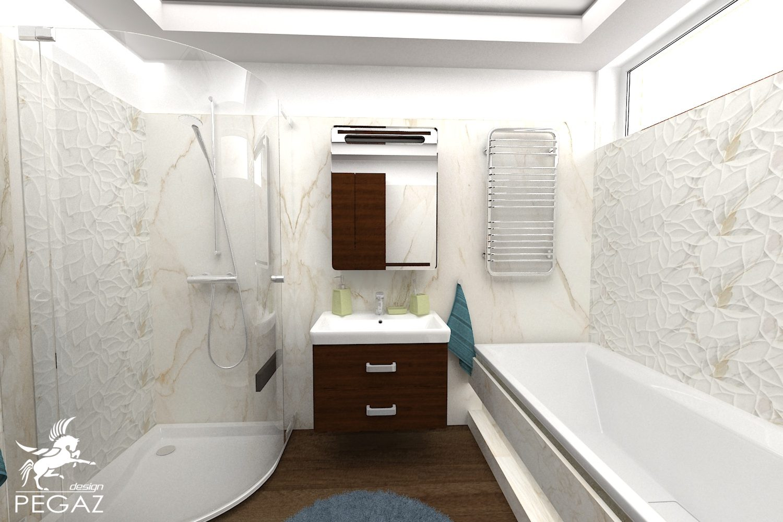 Pegaz Design Justyna łuczak łazienka W Kamieniu I Drewnie