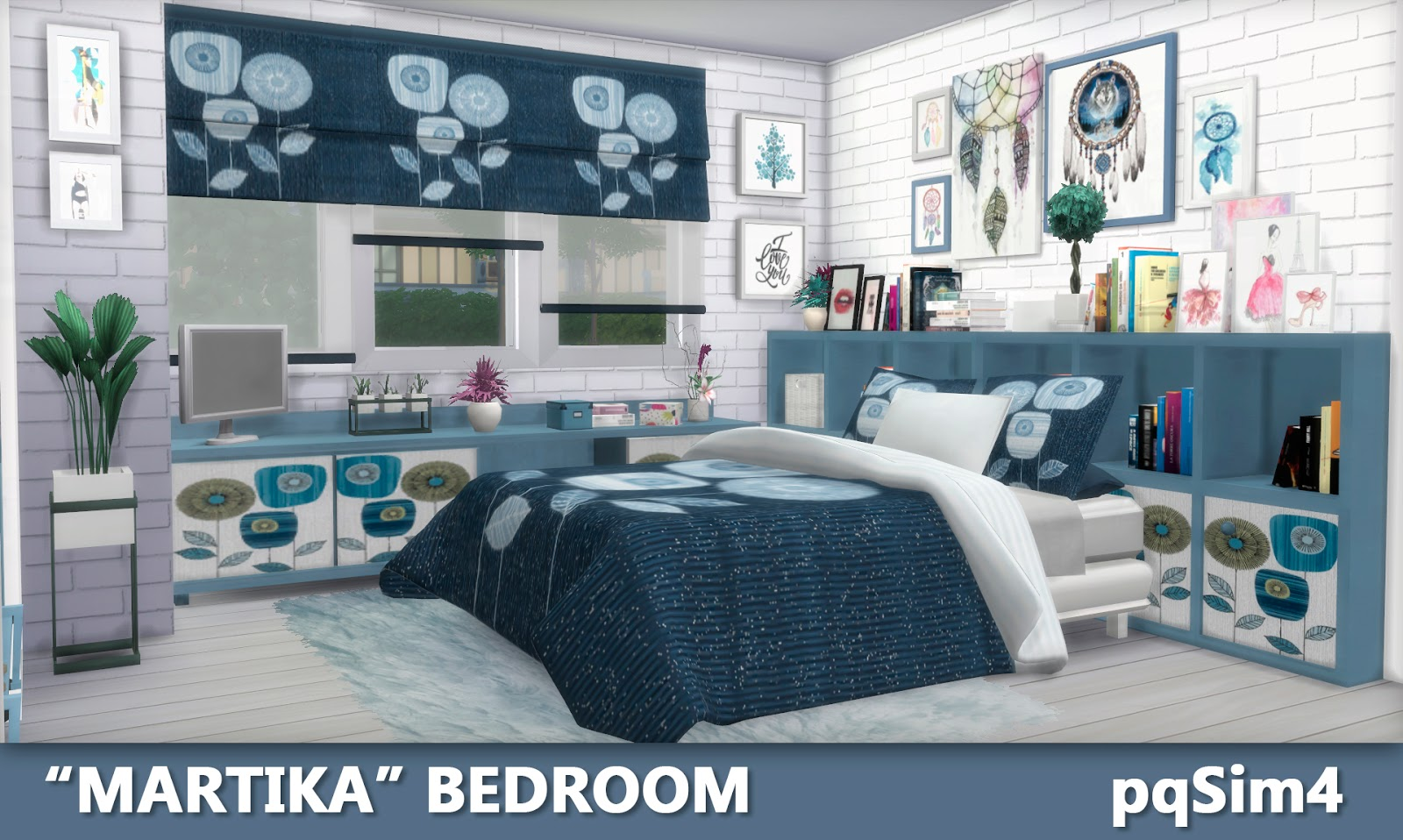 Martika bedroom sims 4 custom content for 4 bedroom