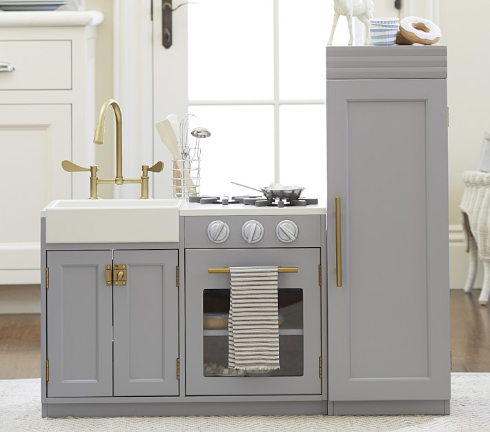 Look for less modern grey toy kitchen pretty real i mentioned this ah mazing kitchen in my 5 ways to buy fewer toys this christmas post i heart it like so much i do not however have that kind of money solutioingenieria Gallery