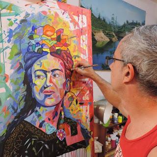 Jorge_Marin_artista_Colombiano Frida Kahlo