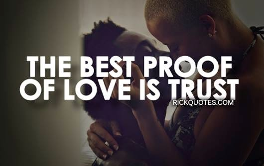 Love quotes Trust couple love hug kiss romantic
