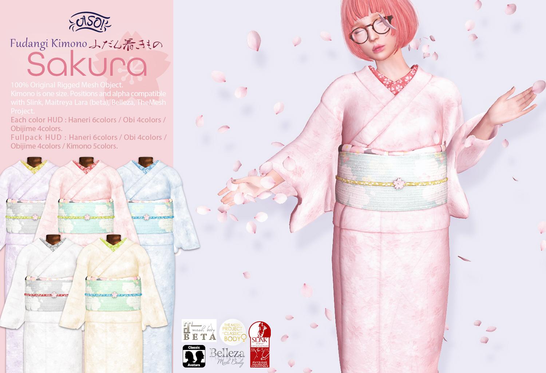 Fudangi Kimono Sakura 50%off @ SaNaRae | A S O !