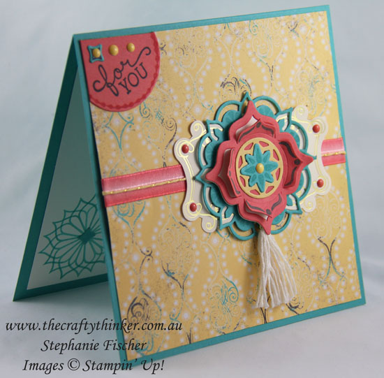 Eastern Medallions, sneak peek, Eastern Beauty Bundle, Cupcakes & Carousels, #thecraftythinker, Stampin Up Australia Demonstrator, Stephanie Fischer, Sydney NSW