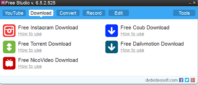 تحميل برنامج تحويل الفيديو - تسجيل مكالمات سكايب Free Studio 6.6