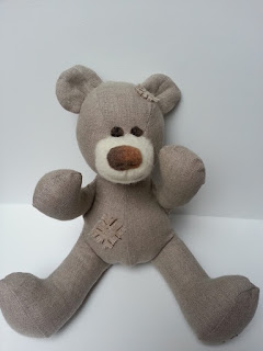 lininbs ranku darbo siutas meskiukas, teddy bear save for children, safe toy, eco toy, felted toy
