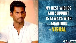My best wishes and support is always with Shanthnu – Vishal