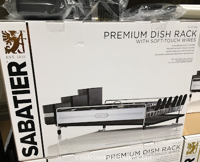 Dry your dishes with the Sabatier Premium Dish Rack with Soft Touch Wires