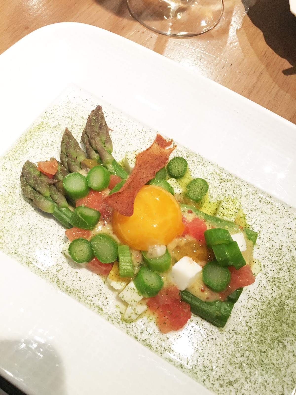 Deconstructed egg dish from L'Epi Dupin