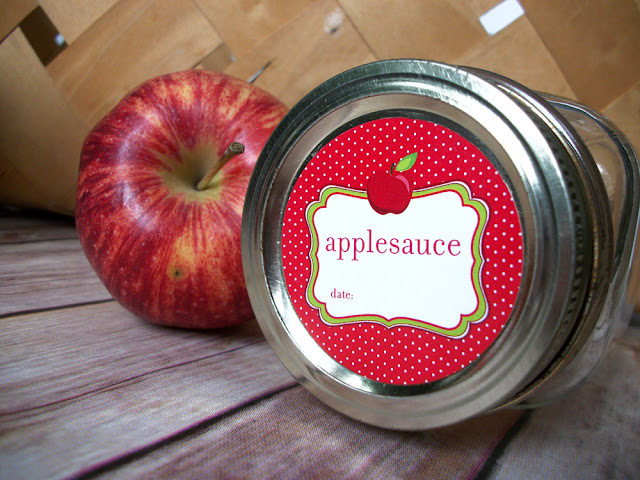 Cute Applesauce Mason Jar Labels