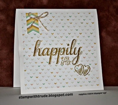http://stampwithtrude.blogspot.com Stampin' Up! wedding card by Trude Thoman Big News stamp set