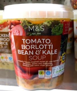 M&S Tomato, Borlotti Bean & Kale soup