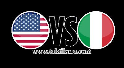 ايطاليا وامريكا بث مباشر