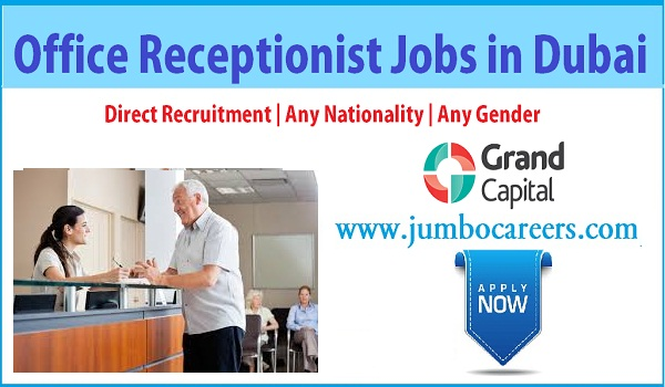 Available receptionist jobs in Dubai, Current Dubai receptionist jobs salary details,