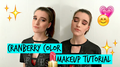 Cranberry makeup tutorial
