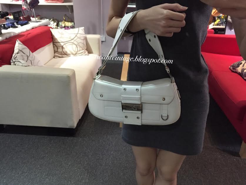 0099da432653 Christian Dior Shoulder Flap Bag-White (Vintage)