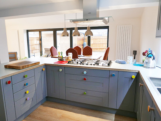 Kitchen renovation – plywood top and cabinet knobs