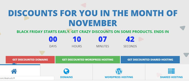 GET YOUR DOMAIN NAME AT A CHEAP RATE WITH BLACK FRIDAY DEAL RUSH