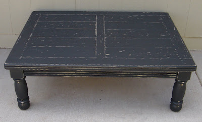 For Is A Shabby Chic Coffee Table That Has Been Painted Flat Black And Moderately Distressed The Dimensions Are 36 Wide X 48 Long 16 High 100