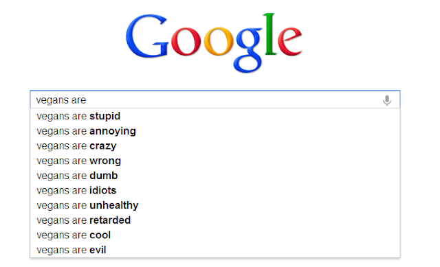 Google Search auto complete vegans are-
