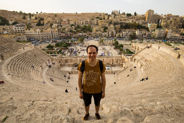 Alberto desde lo alto del Teatro Romano de Amman