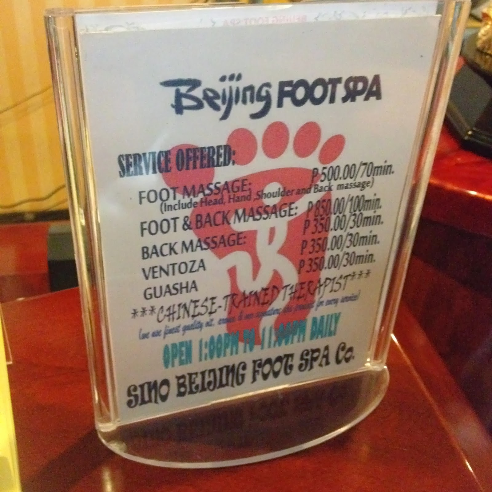 Beijing Foot Spa Massage min fødevarer i tasken-4280