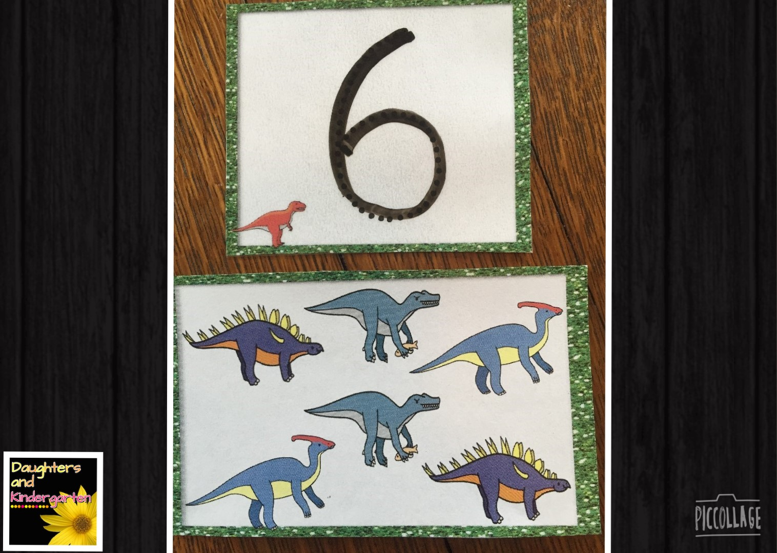 Daughters And Kindergarten Counting Dinosaurs