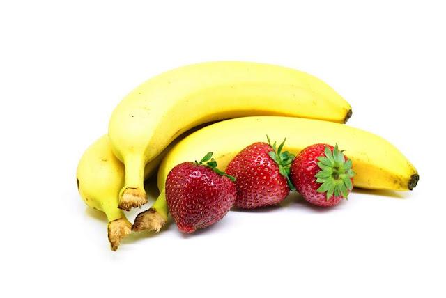 fresas y banano