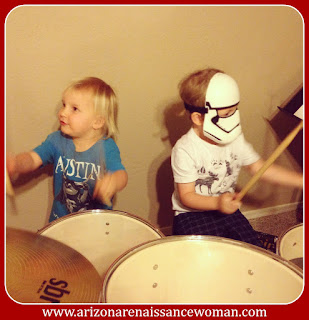 Silly Nephews Playing Drums