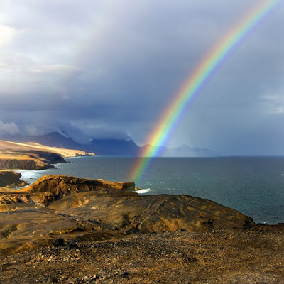 LA FOTO DEL DIA DE FUERTEVENTURA: Double Rainbow 1