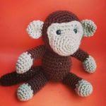 patron gratis mono amigurumi | free pattern amigurumi monckey