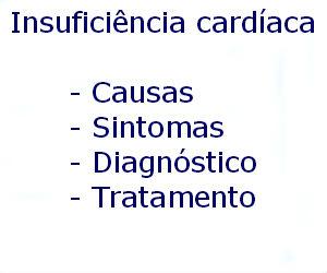 Insuficiência cardíaca causas sintomas diagnóstico tratamento prevenção riscos complicações