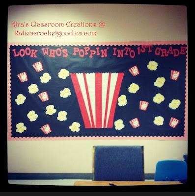 popcorn classroom bulletin board