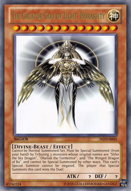 the creator god of light horakhty - Amazon Yugioh The Creator God of Light Horakhty custom