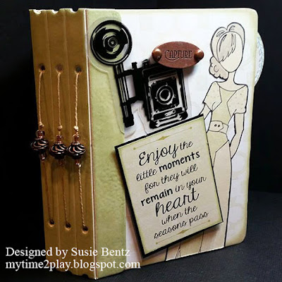 Mini Album featuring Windsong and PowderPuff Chalk Inks for Quick Quotes Friday Challenge 75 designed by Susie Bentz