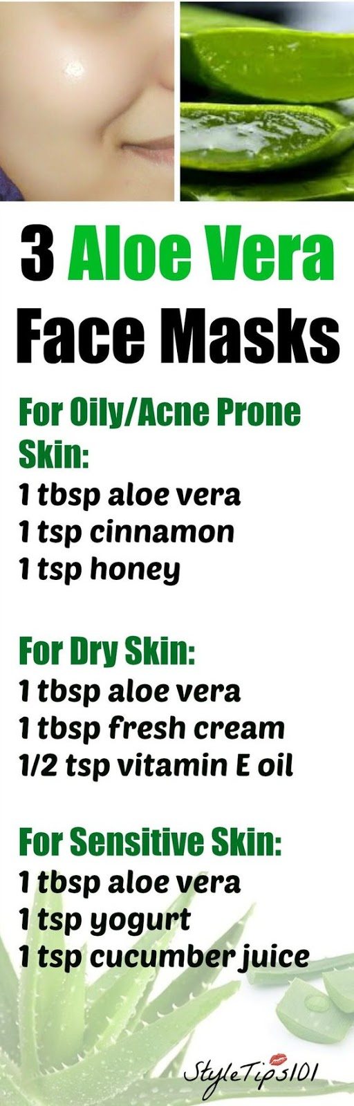 3 ALOE VERA FACE MASKS FOR EVERY SKIN TYPE
