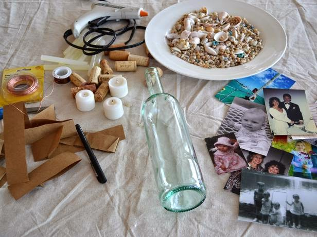 How To Decorate Your Old Alcohol Bottles Into Photo Frame