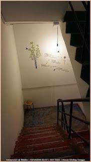 gambar hiasan minimalist di tangga, agak menenangkan
