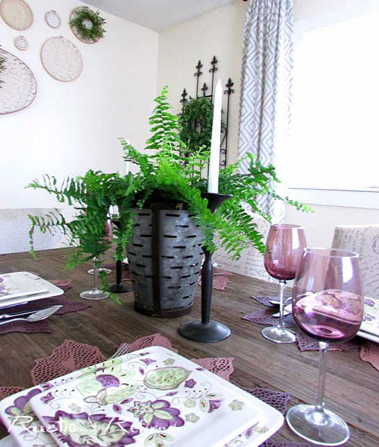 Farmhouse table setting for spring