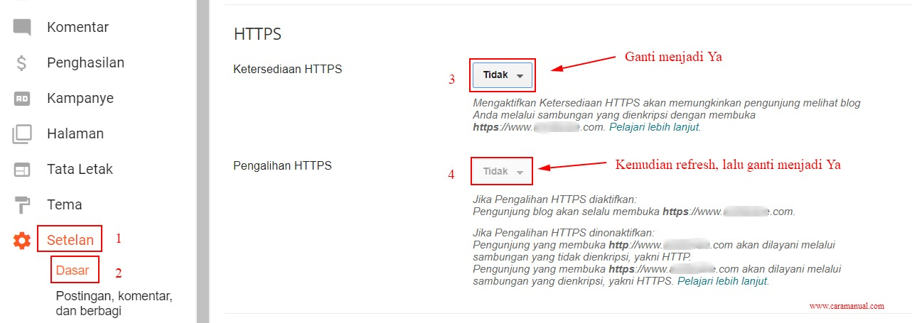 Cara Mengaktifkan HTTPS di Blog Custom Domain 2