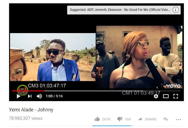 "Yemi-Alade's-""Johnny""-becomes-Nigerian-most-viewed-music-video-on-YouTube"