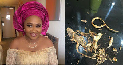 Actress Mary Njoku Discovers Dried Snake In Crayfish She Purchased (Photo)