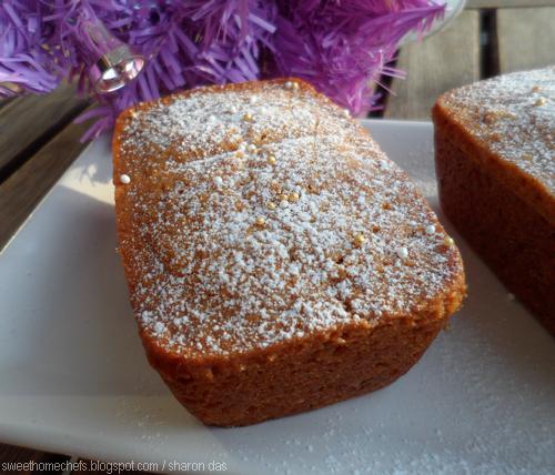 Sweet Home-Chefs: Eggless Honey Walnut Cake