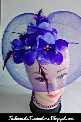 Purple wedding fascinators in Kenya