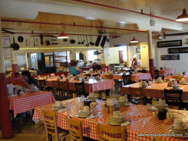 dining room at Samoa Cookhouse in Eureka, California