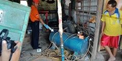 Kompresor Tambal Ban Meledak, Dua Orang Tewas