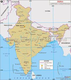 Intia Intian Kartta Ja Sijainti
